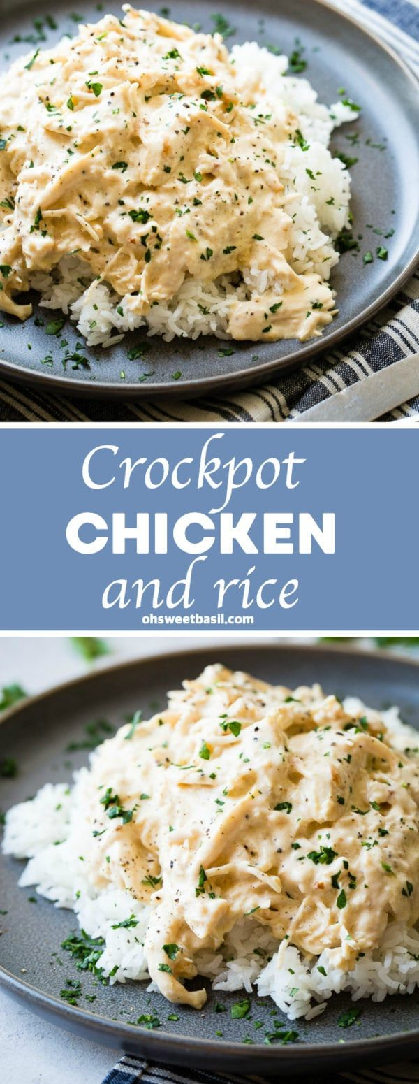 Crockpot Chicken and Rice Recipe