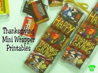 Kandy Kreations: Thanksgiving Mini Wrapper Printable