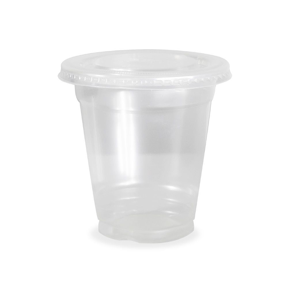 df98025adca ePackageSupply Clear Plastic Disposable Cup With Flat Lid (16 oz. - Pack of  100)