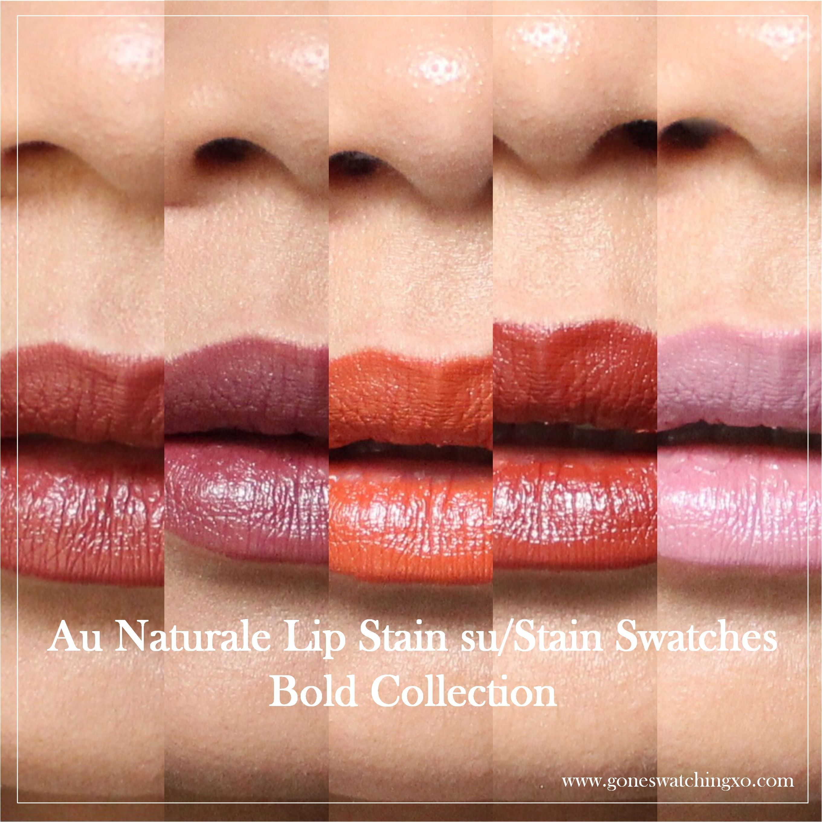 Bold Collection Lipstain sustain Review and Swatches
