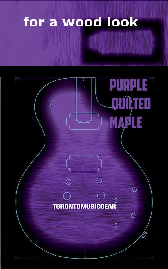 Les Paul Flame And Quilted Maple Tops Vinyl Guitar Skins