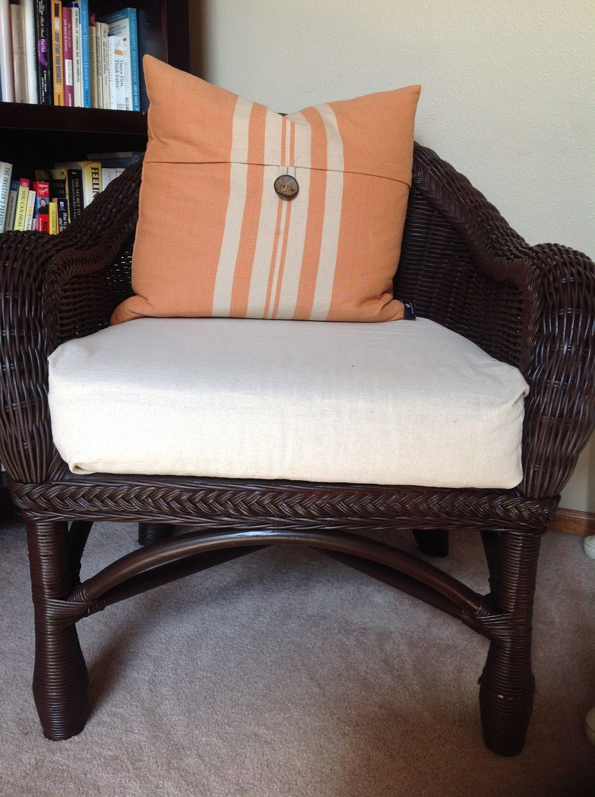 Easy And Cheap Wicker Chair Update For The Home White