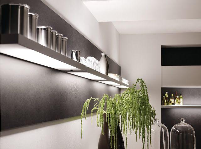 Eclairage étagère Design Avec Idée Déco Pour Cuisine Moderne
