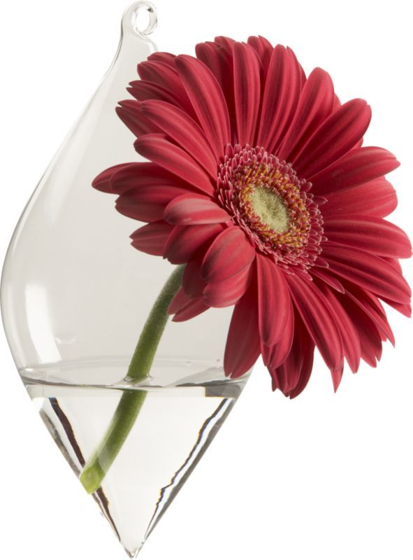 Teardrop Diamond Hanging Vase In Vases | CB2 Ideas