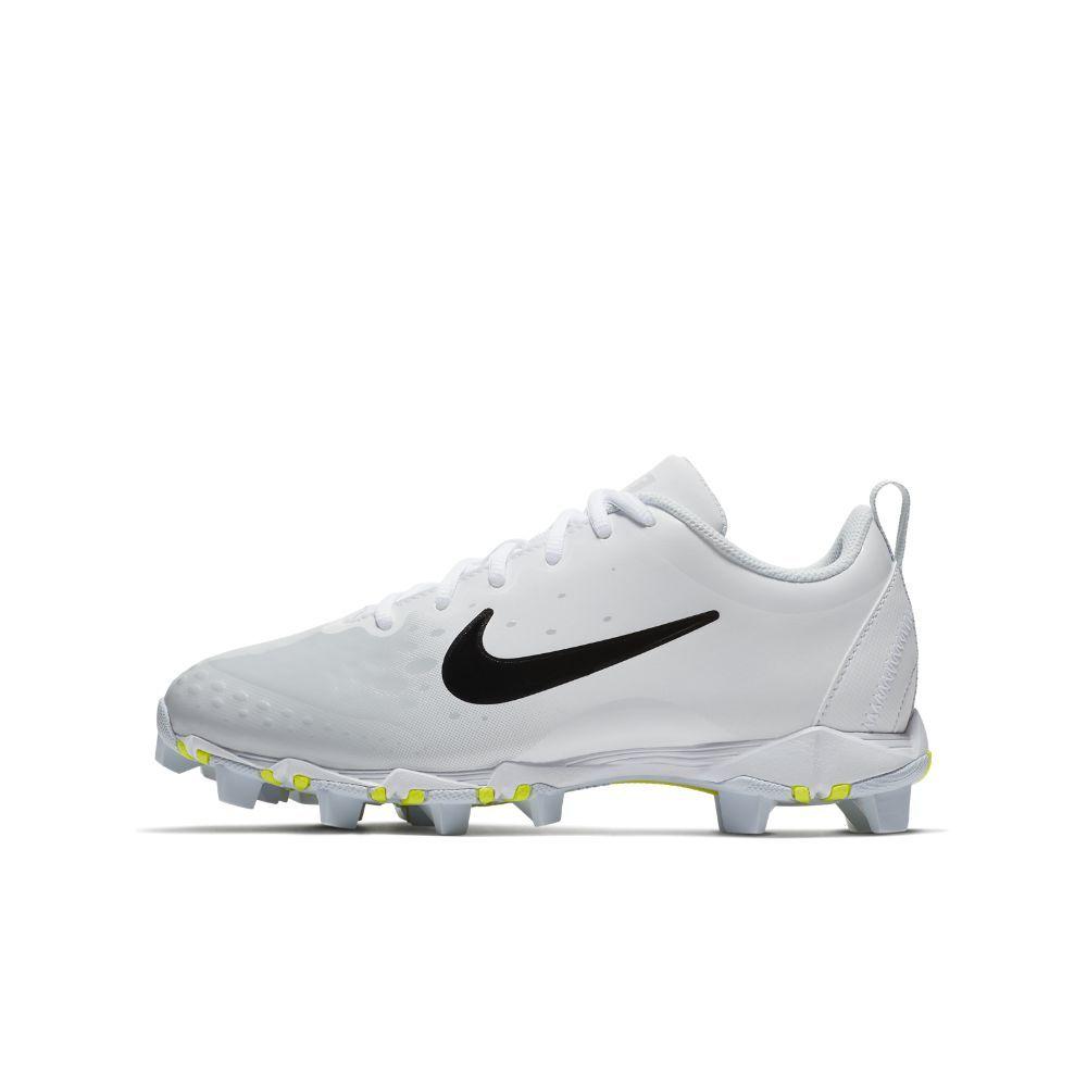 low priced 99421 66b96 Nike Hyperdiamond 2 Keystone Little Big Kids  Softball Cleat Size 5.5Y ( White)
