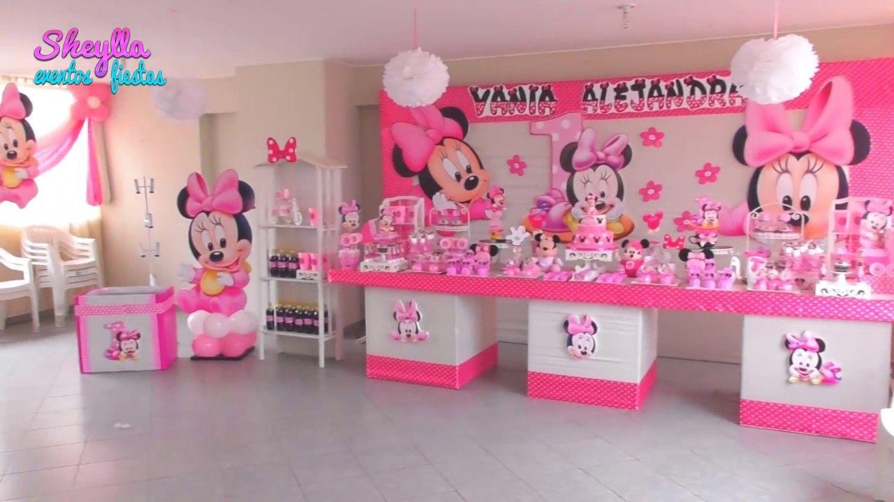 Minnie Bebe Minnie Baby Decoración Para Fiesta Infantil Mesa De Dulce Decoración De Fiestas Infantiles Decoracion Minnie Bebe Decoracion Minnie