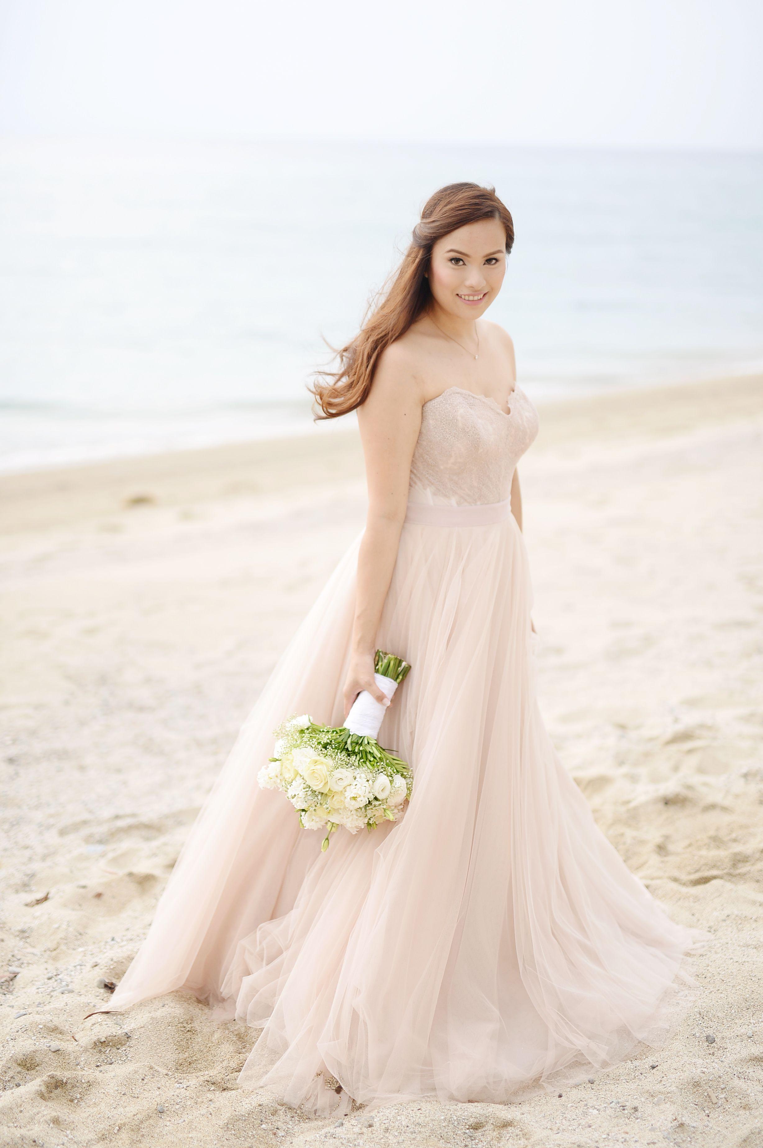 Watters Ahsan Skirt and Carina Corset #beachwedding   Weddings and ...