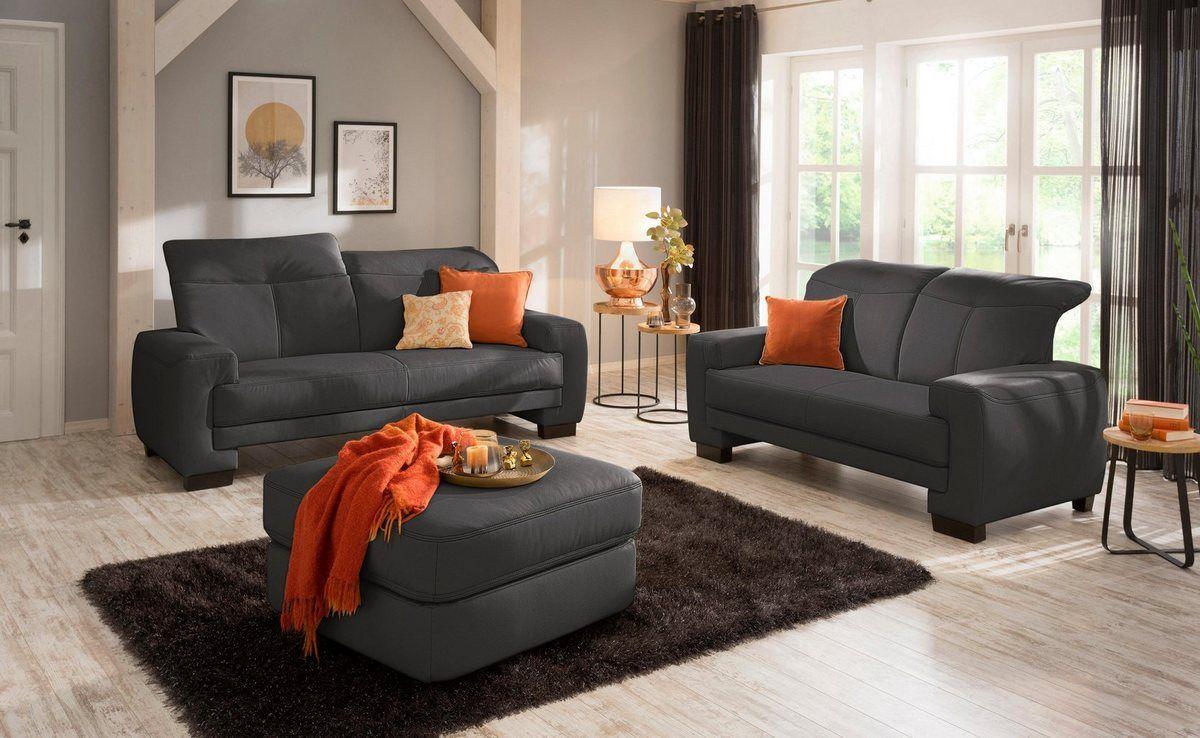 Garnitur Bestehend Aus 2 Sitzer Und 2 5 Sitzer Napoli Mit Kopfteilverstellung Wohnen Haus Wohnzimmer Sofa