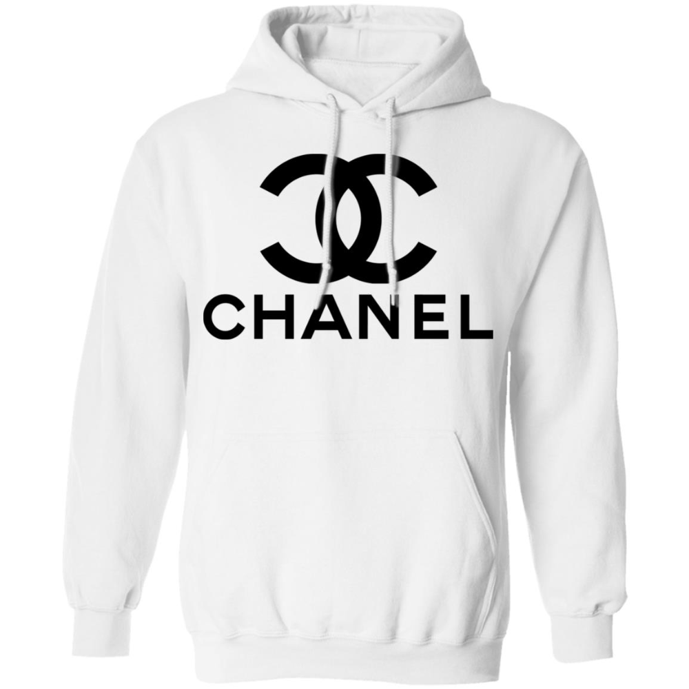 Logo Chanel Black Unisex Pullover Hoodie in