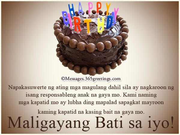Happy birthday in tagalog happy birthday pinterest tagalog and collection of birthday greetings in tagalog for sister m4hsunfo