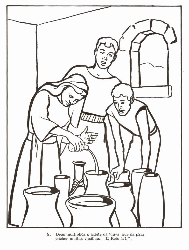 24 Elijah And The Widow Coloring Page In 2020 Elijah And The