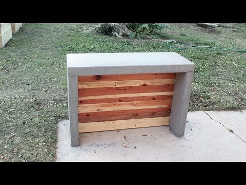 How To Make Concrete Countertops For An Outdoor Bar Or