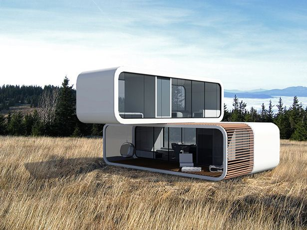 Portable Prefab Homes coodo residential building. the slovenian company, coodo, is