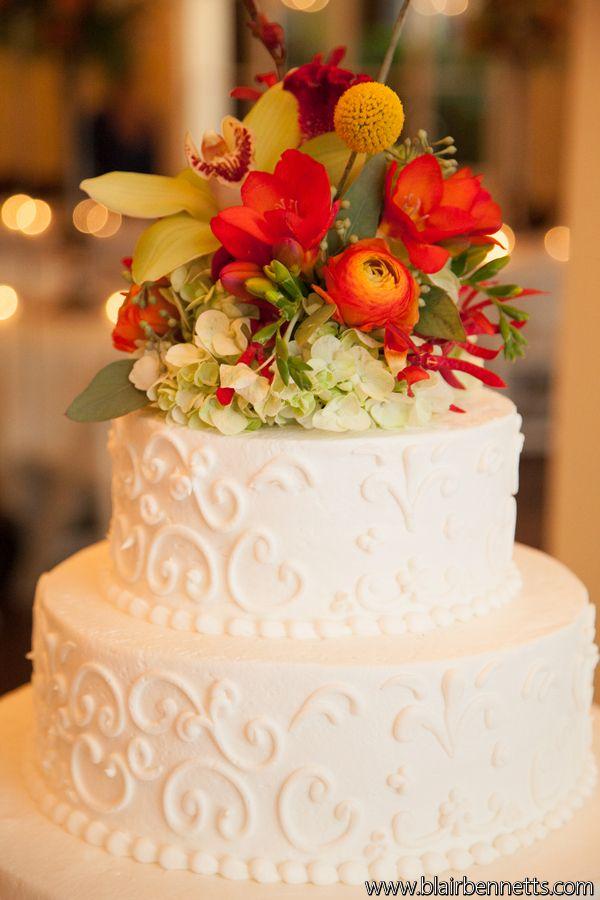Fat Cat Flowers Fall Wedding Cake