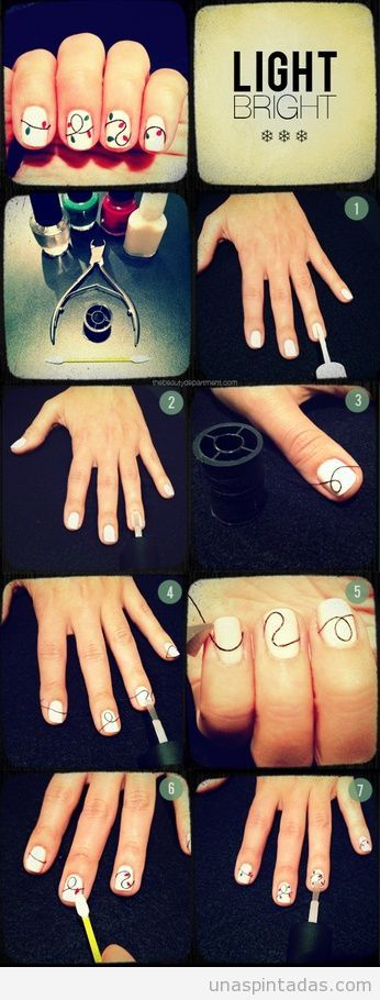 tutorial-paso-paso-nail-art-diseño-decoracion-uñas-hilo-trucos-facil ...