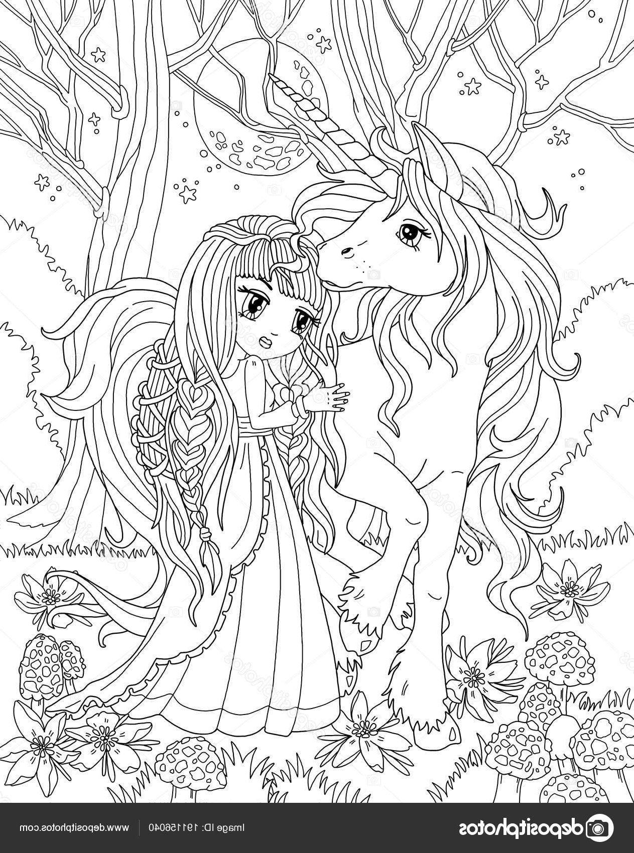 5 Inspirant De Coloriage Princesse Licorne Photos  Unicorn