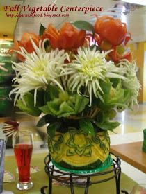 Carving Arrangements and Food Garnishes: Fall Vegetable Displays at Citymall