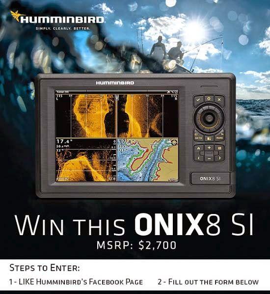 Win a Humminbird Onix8 SI Sonar Fish Finder | All kinds of