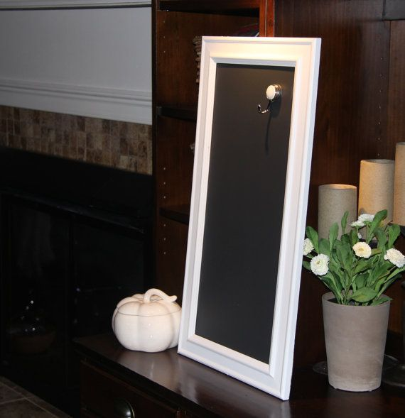 long narrow white framed chalkboard 13 34 x 25 by poshpilfer