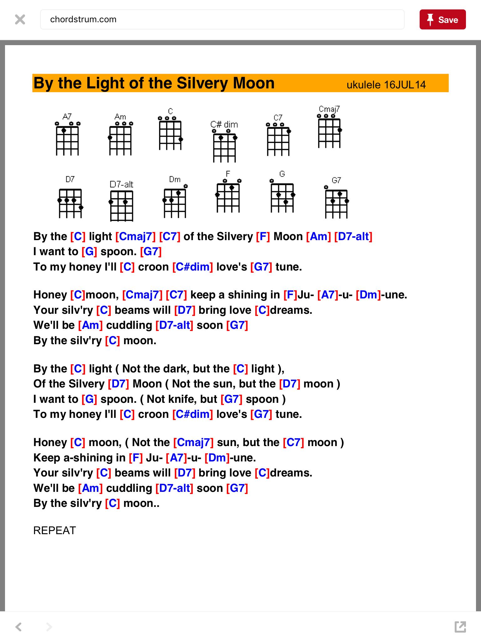 By The Light Of The Silvery Moon Ukulele Songs Ukulele Music Ukelele Songs