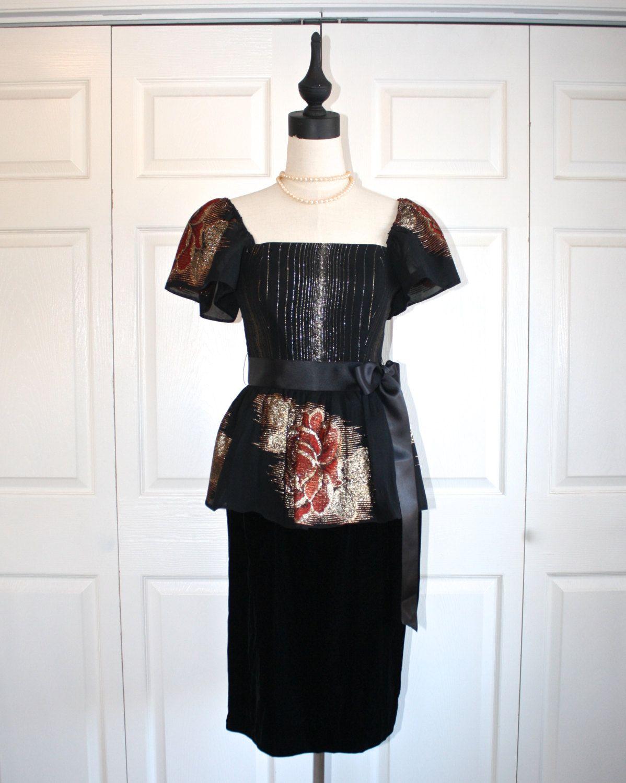 Victor costa party dress vintage s designer formal evening