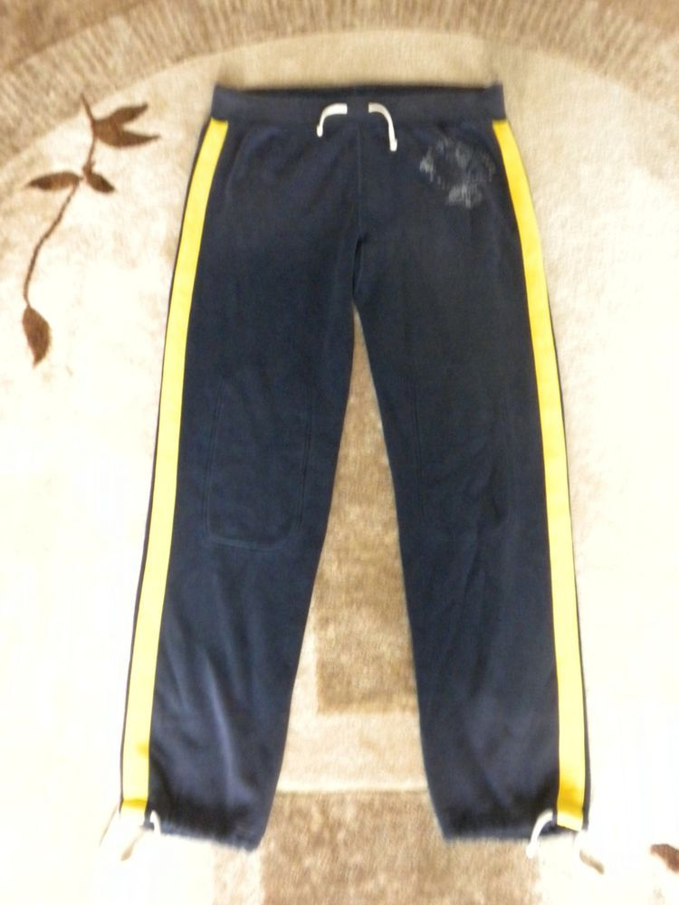 7d3b129c9 Men XXL Polo Ralph Lauren Navy Blue Yellow Stripe Athletic Jogger Sweat  Pant NEW  PoloRalphLauren  SweatPants