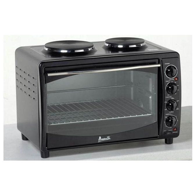 Avanti 23 Multi Function Convection Toaster Oven With Dual Burner Cooktop Black Pcrichard Com Mkb42b Multifunction Ovens Small Electric Oven Mini Kitchen