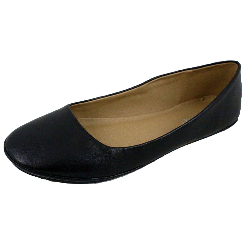 32e1bb19fbf0d Soda Women's Basic Round Toe Slip On Ballet Flats : Amazon.com ...