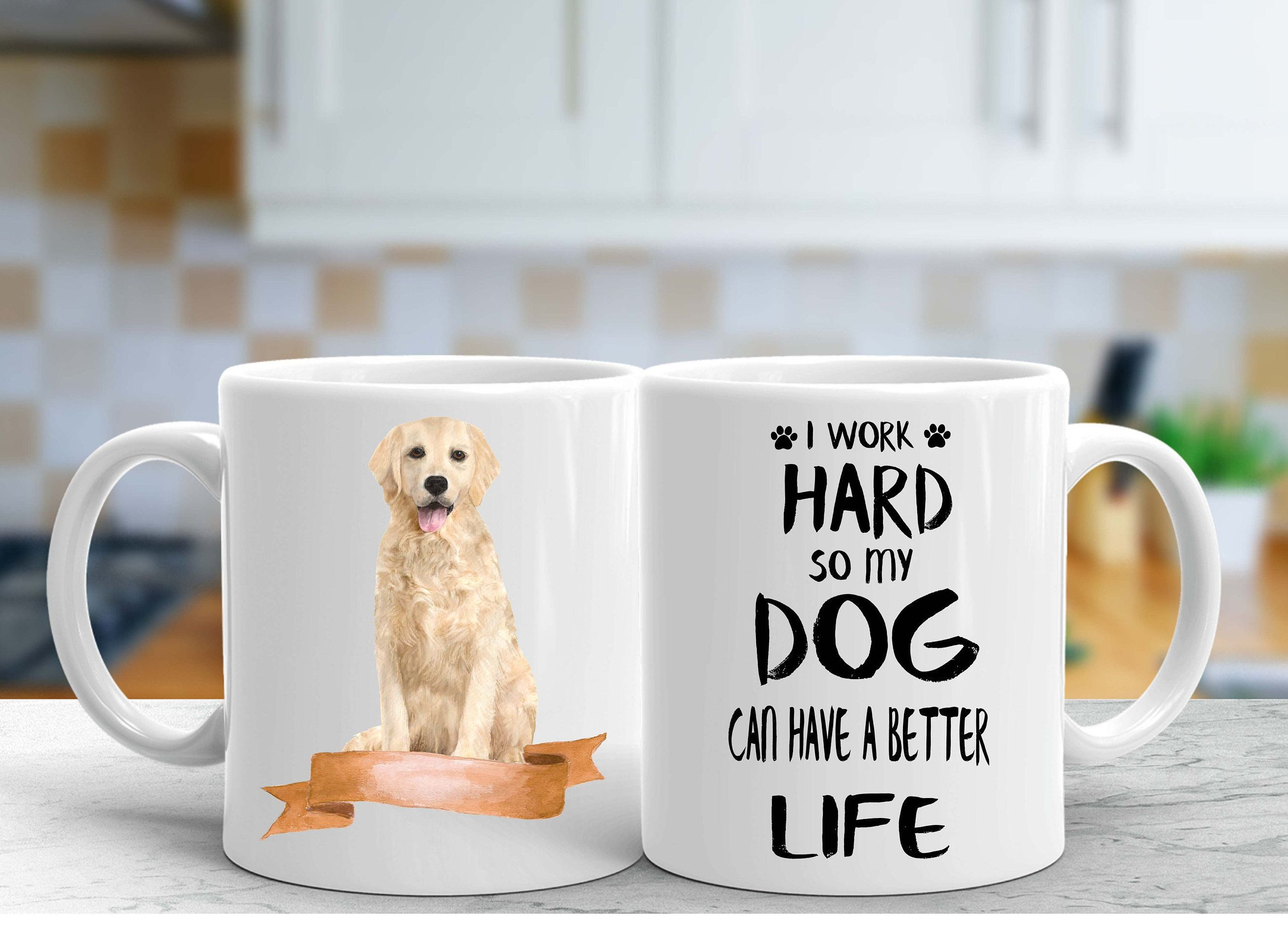 golden retriever custom mug dogs lovers custom gifts dogs breeders custom mugs Mug
