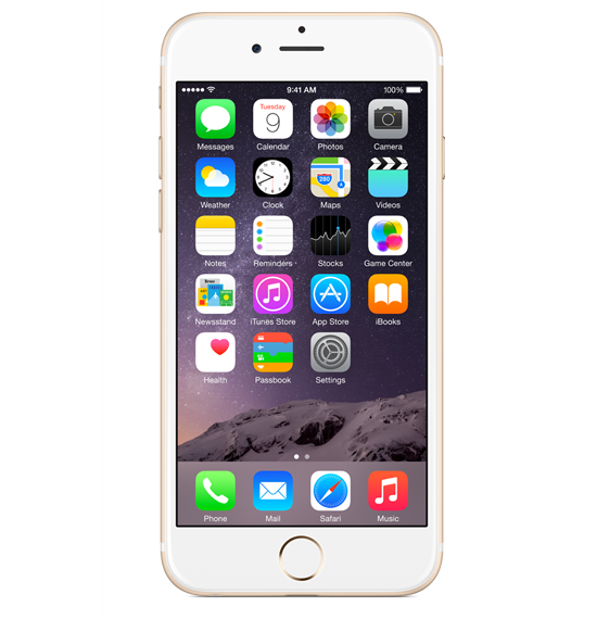 Apple® iPhone® 6 Front View Iphone 6 gold, Iphone