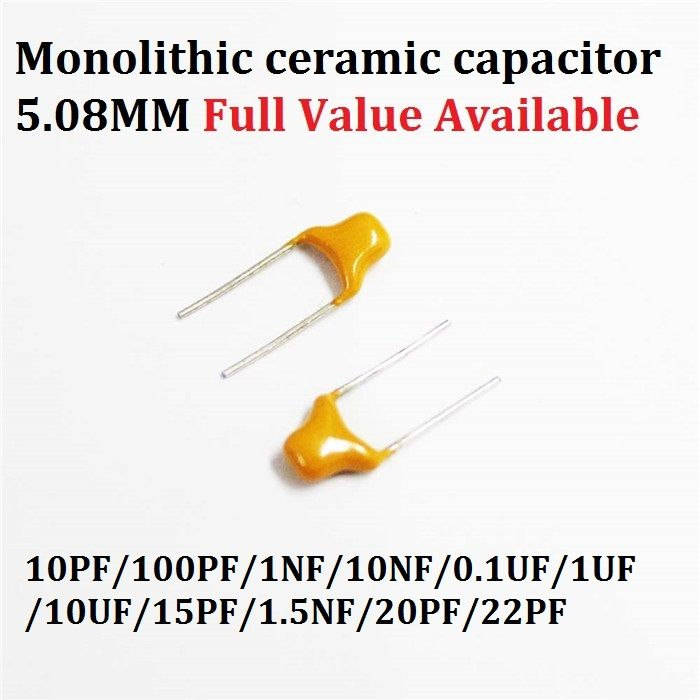 50pcs Monolithic Multilayer Ceramic Capacitor 100 101 102 103 104 105 106 150 152 200 220 50v 10pf 100pf 1nf 10nf 0 1uf 5 Capacitors Ceramics Multi Layering