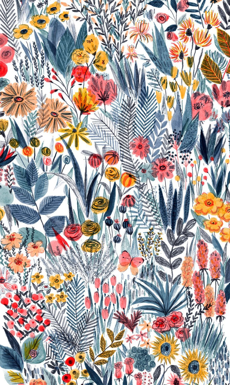 Mouni Feddag floral illustration pattern