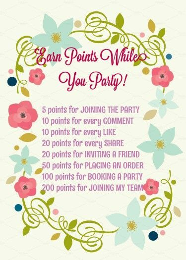 facebook party game earn points to win a prize httpwww - Norwex Party Invitation