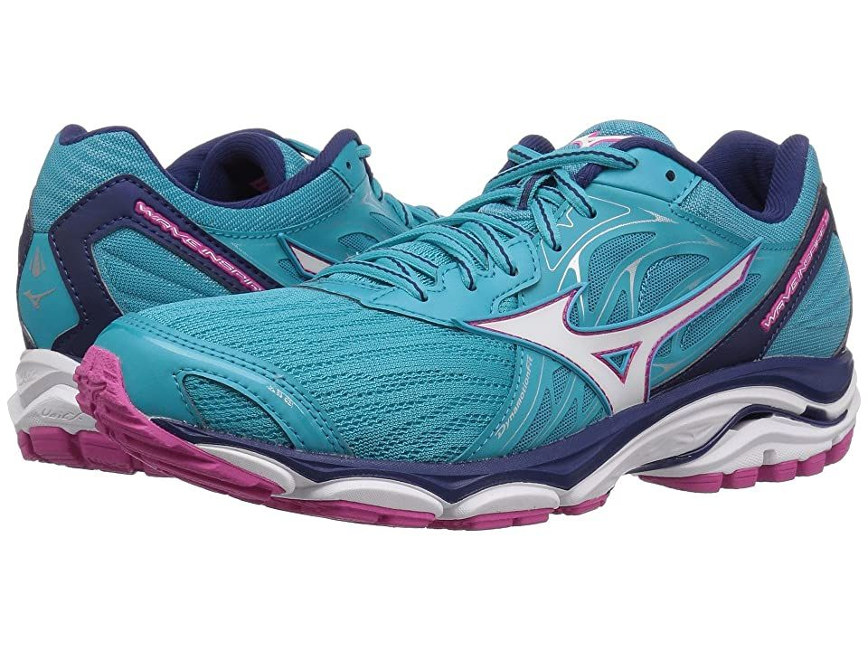 Mizuno Wave Inspire 14 Peacock Blue Fuchsia Purple Women S Running Shoes Enjoy A Smoother Ride With The Durable And In 2020 Womens Running Shoes Running Shoes Shoes