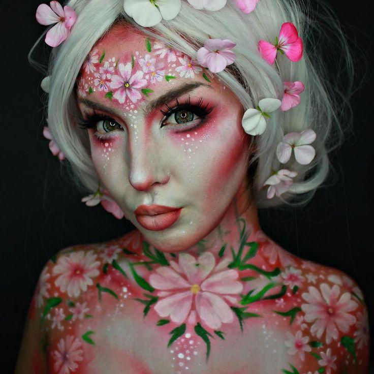 Theatrical makeup. Costume makeup