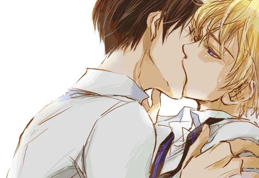 Яой Поцелуй На Обои Телефона