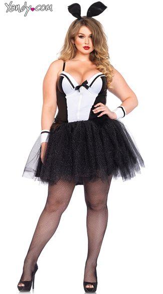 Plus Size Bunny Tux Costume, Plus Size Sexy Bunny Costume, Plus Size Playboy Costume