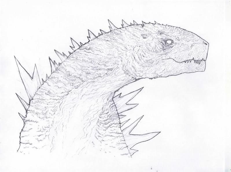 Gojira Godzilla concept art my art Pinterest