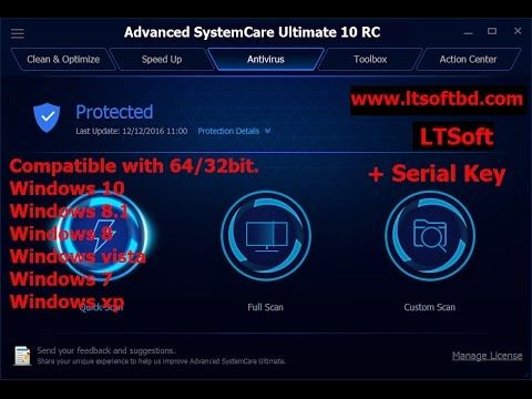 advanced systemcare 12 rc pro serial