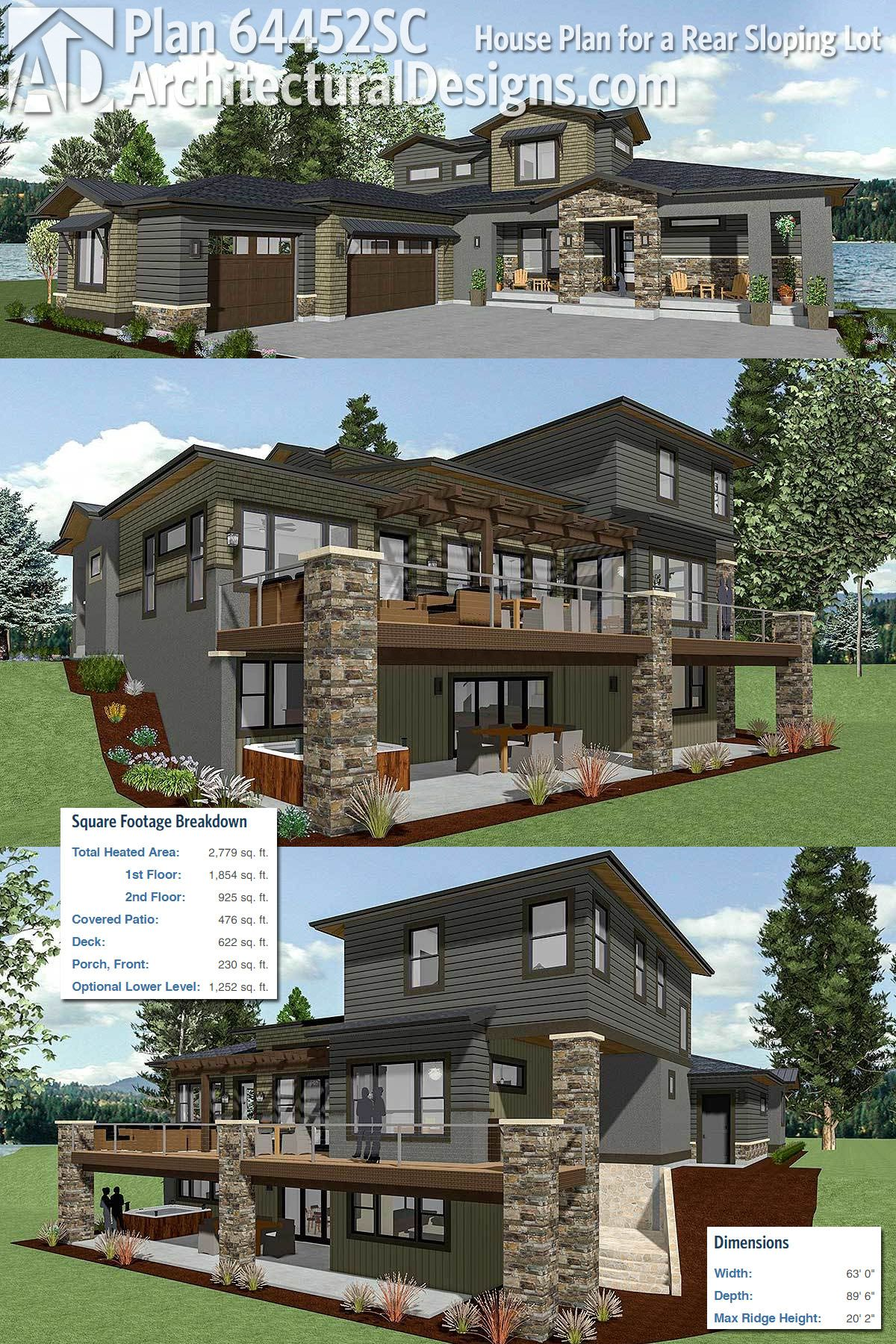 Plan 290001iy Magnificent Rear Views How To Plan House Plans House Floor Plans