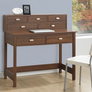 Love the hutch and finish on this new desk!