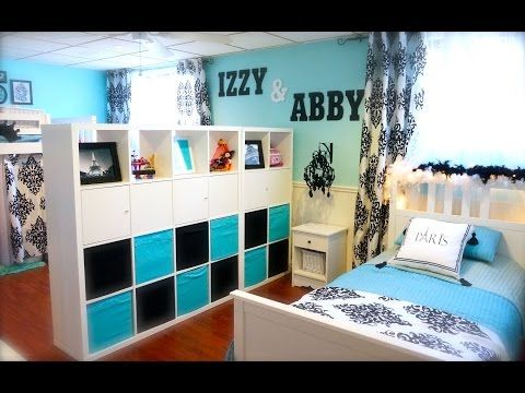 Mom Transforms A Dingy Bat Into Beautiful Split Bedroom For Her Two Daughters Diy Craft Projects