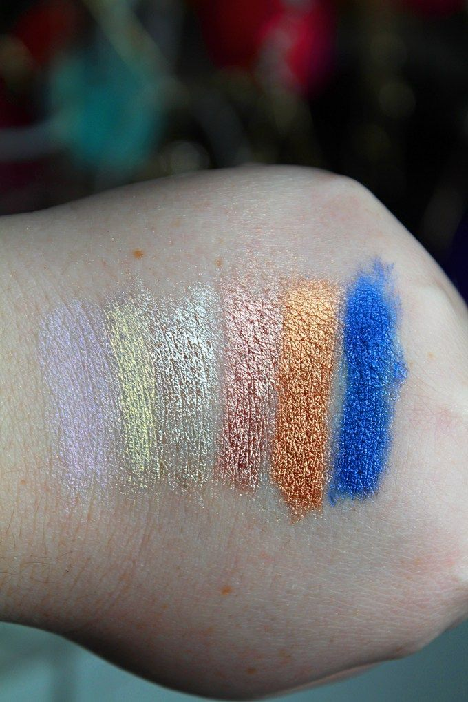 Make Up For Ever Star Lit Powder Pigments Swatches