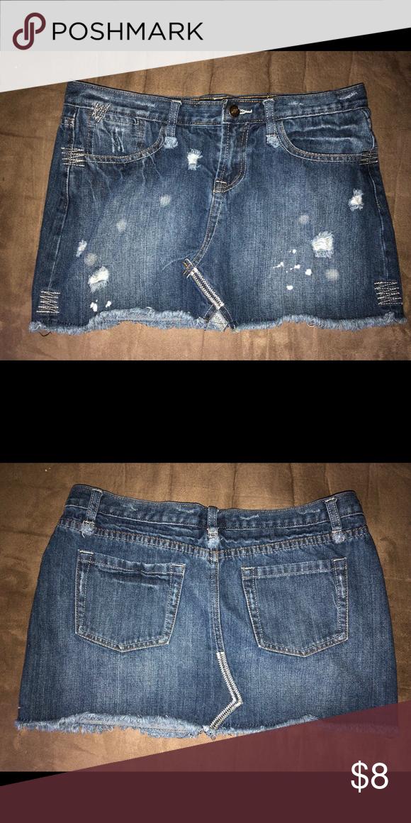 b7e448e02f Distressed jean skirt Rue 21 distressed jean skirt Rue21 Skirts Mini ...