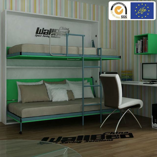 Source Double Decker Hidden Wall Bed Bunk Bed On M.alibaba.com