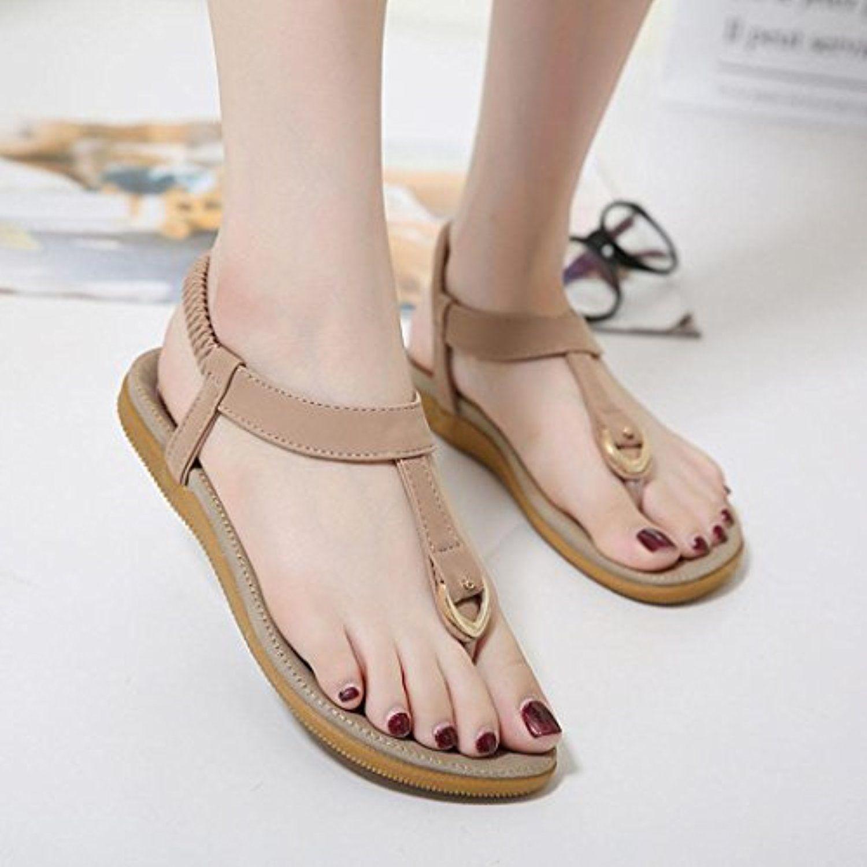 Women Bohemia Flat Sandal Shoes Size 4.5Size 10 Sandals