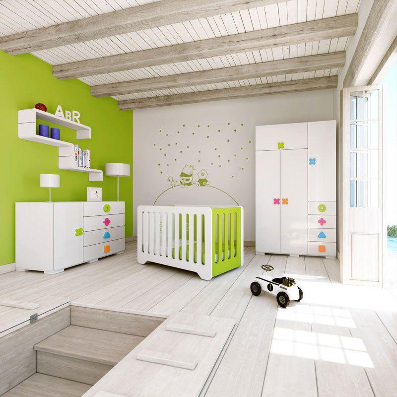Habitaciones infantiles modernas y de dise o con for Diseno de habitaciones infantiles