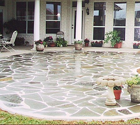 Exceptional Big In Size, But Rounded Edges And Rough Cut Stone... Gonna Do Something  Like This Around Pool N On Patio. Love Love Love:)