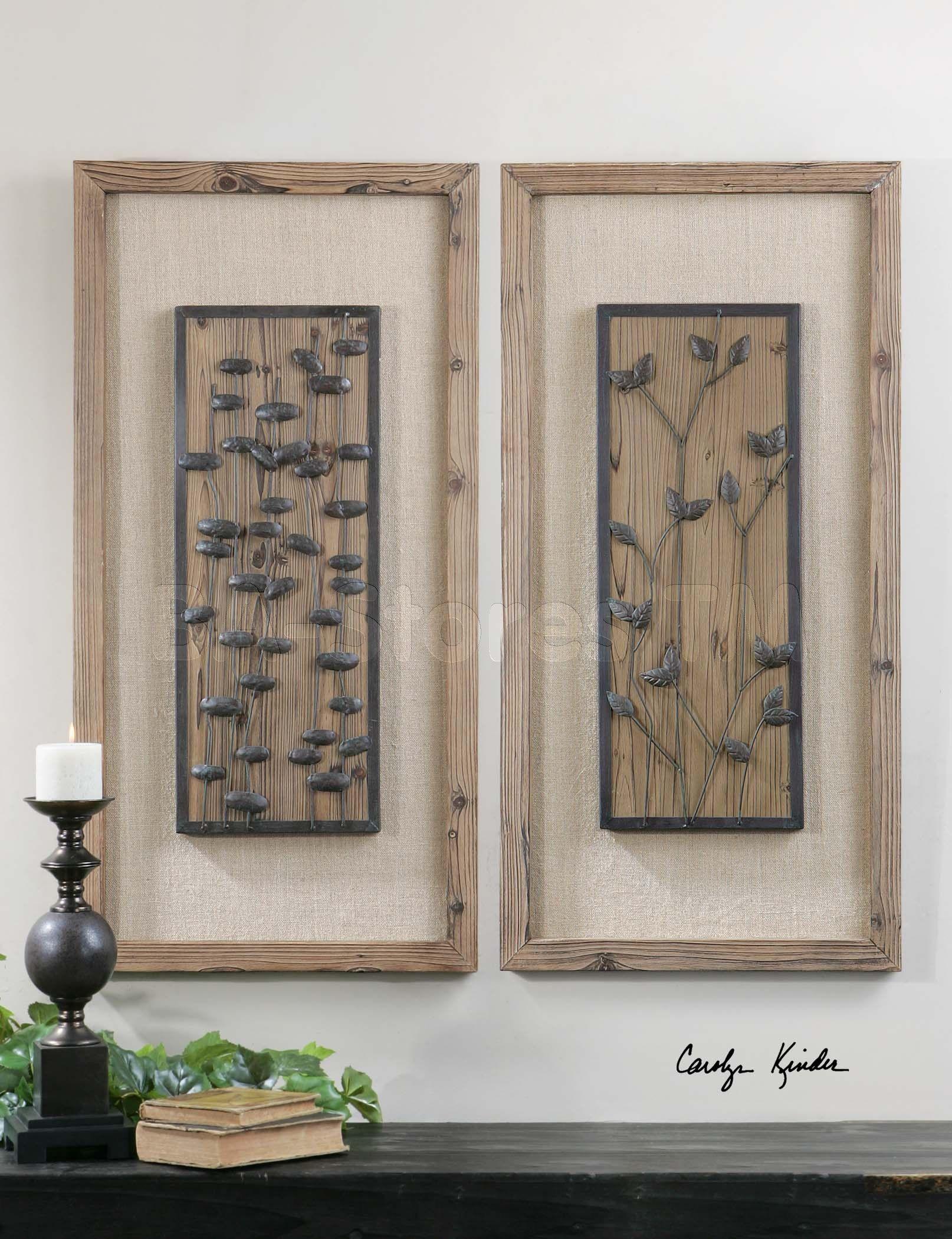 burlap wall art chinook burnished wood with burlap matting wall