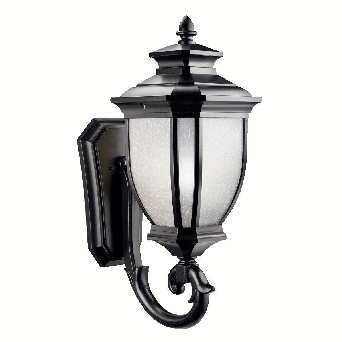 Kichler lighting bk salisbury light inch black outdoor wall